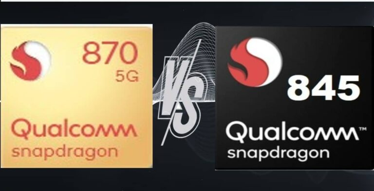 Snapdragon 870 vs Snapdragon 845